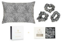 Load image into Gallery viewer, Leopard Silk Pillowcase + Scrunchies Gift Set - MayfairSilk