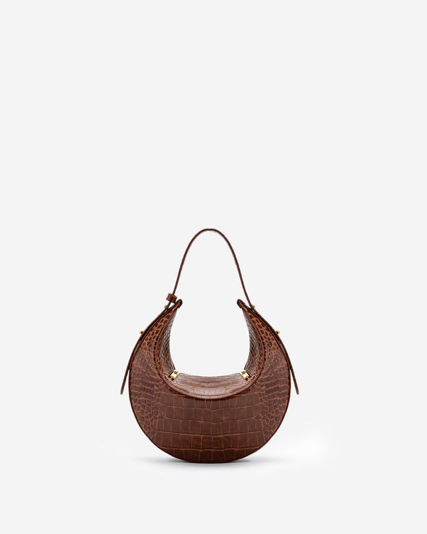 Sac à main Rantan- Marron Effet Croco - E-SHOP OFFICIEL JW PEI FR