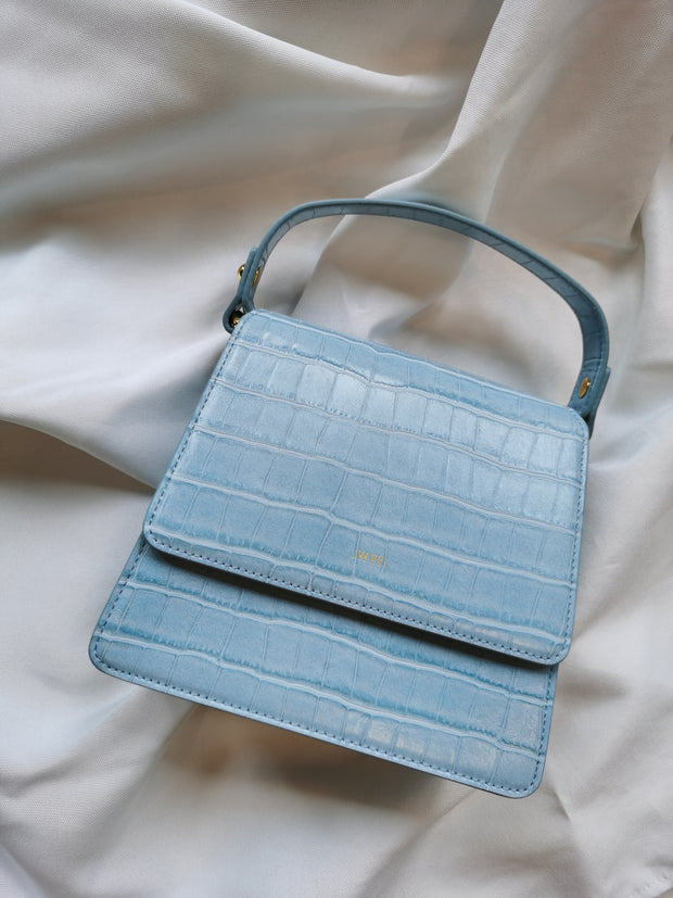 Sac à main Fae - Glace Bleu Effet Croco - E-SHOP OFFICIEL JW PEI FR