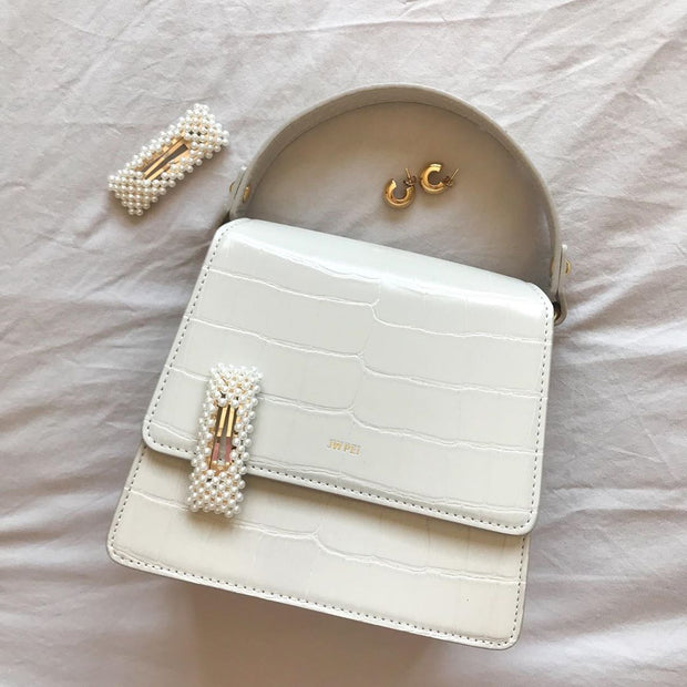 Sac à main Fae - Beige Effet Croco - E-SHOP OFFICIEL JW PEI FR