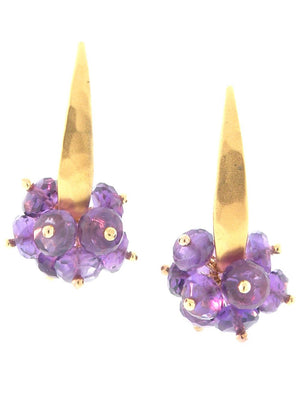 Amethyst and gold earrings by Dana Busch Designs.