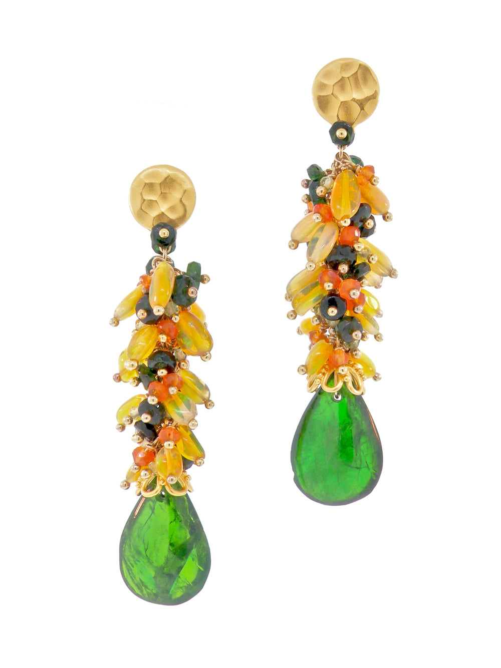 Sunset over Green Sand Beach Earrings - Dana Busch Designs
