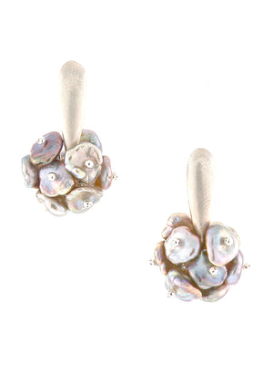 Sterling Silver Keshi Pearl Earrings - Dana Busch Designs