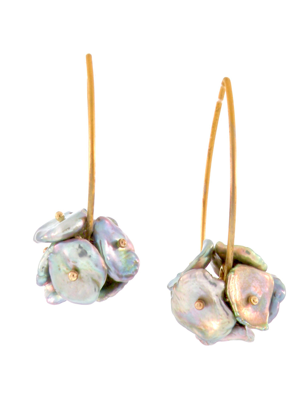 Multi-tonal Keshi Pearl Earrings - Dana Busch Designs