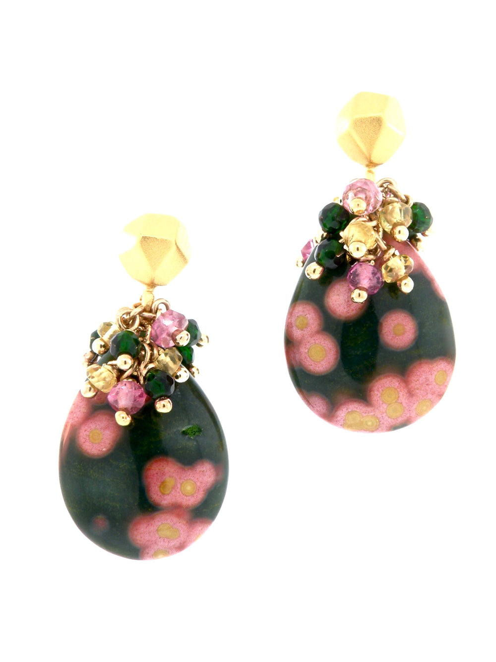 Blossoming Plumeria Earrings - Dana Busch Designs