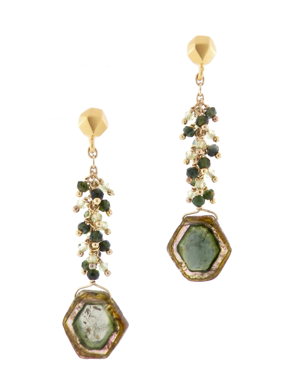 Sacred Geometric Embellishments of the Alhambra Earrings - Dana Busch Designs