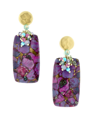 Shell Tapestry Earrings - Dana Busch Designs