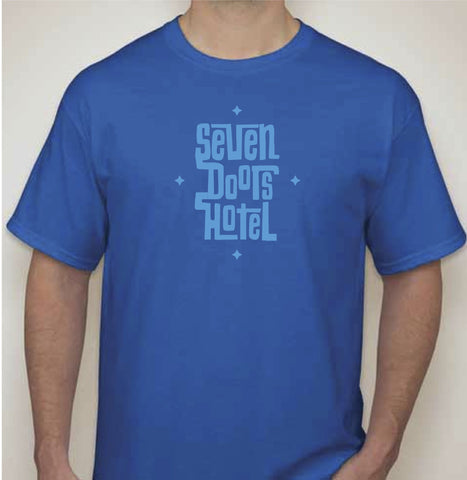 Seven Doors Hotel - T-shirt - Blue