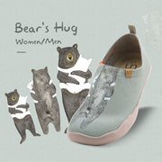 BEAR'S HUG Cute Canvas Slip-ons