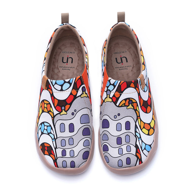 LA PEDRERA Women Canvas Art Painted Shoes