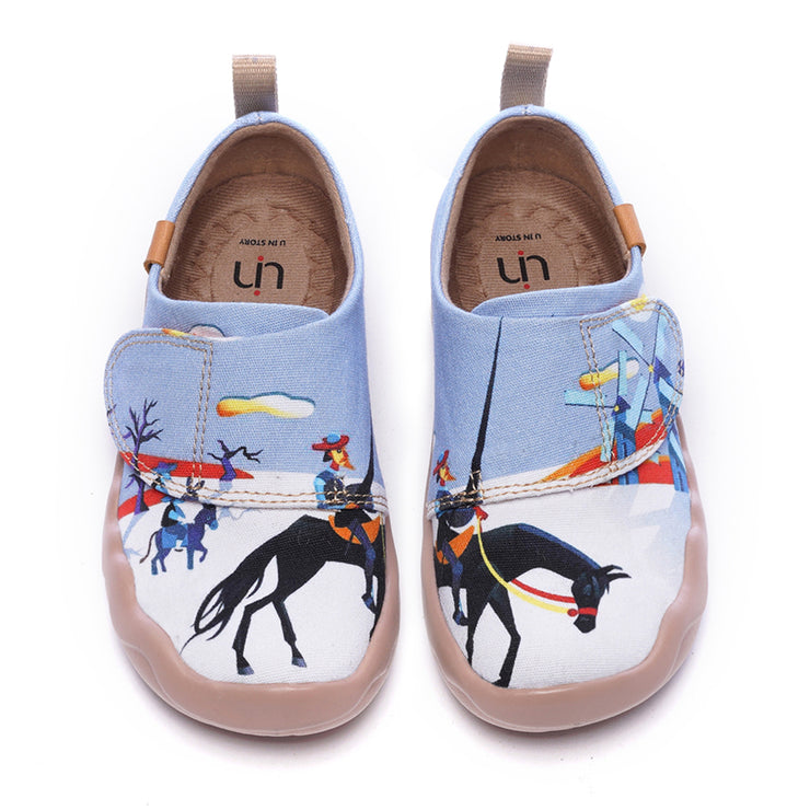 EL HIDALGO Kids Painted Canvas Shoes