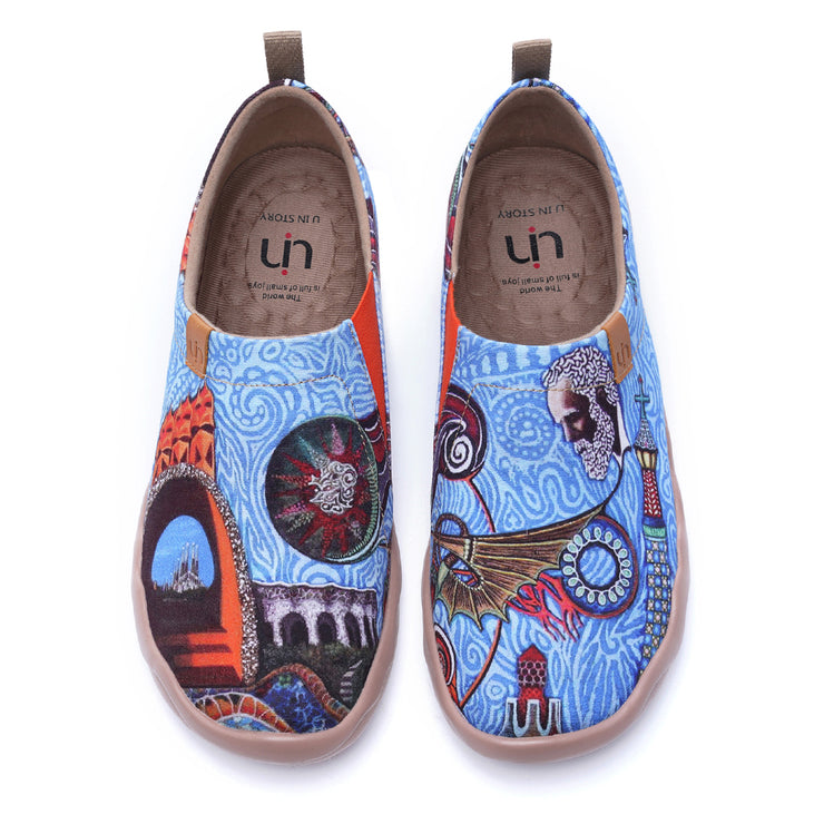 OH MY GAUDÍ Men Painted Canvas Shoes