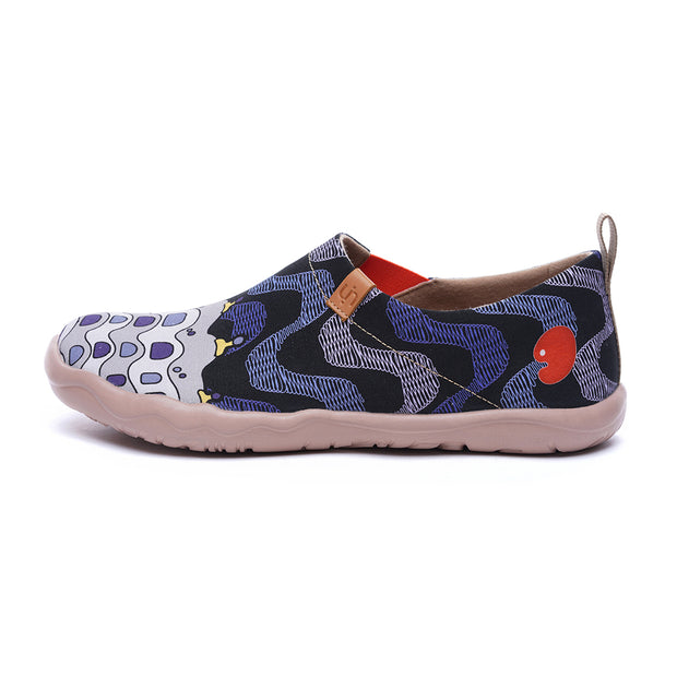 LA PEDRERA Men Canvas Art Painted Shoes
