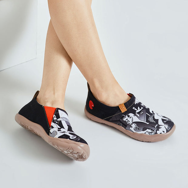 -Picasso's Guernica- Abstract Women Flats Canvas Shoes
