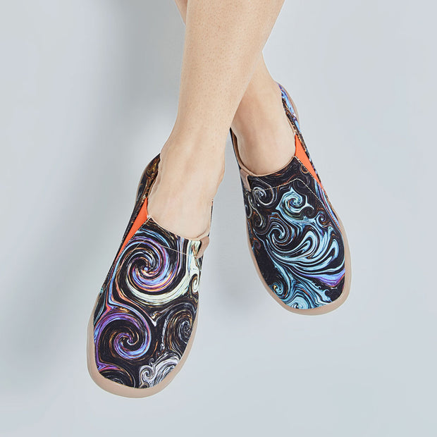 STARRY NIGHT Art Paint Women Canvas Shoes