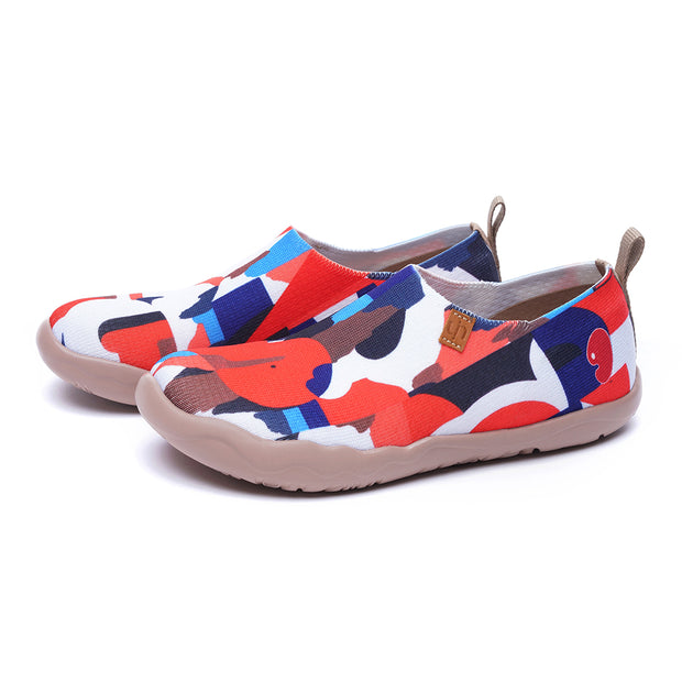 STREET CANVAS Women Art Painted Knitted Shoes