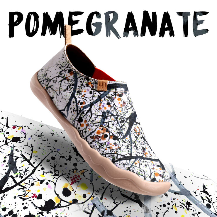 POMEGRANATE Painted Canvas Lady Slip-on Shoes