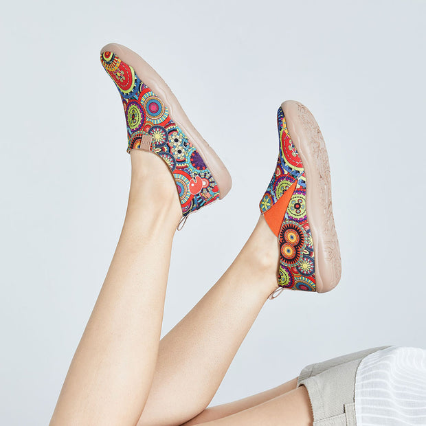 BLOSSOM Paisley Pattern Canvas Shoes for Women