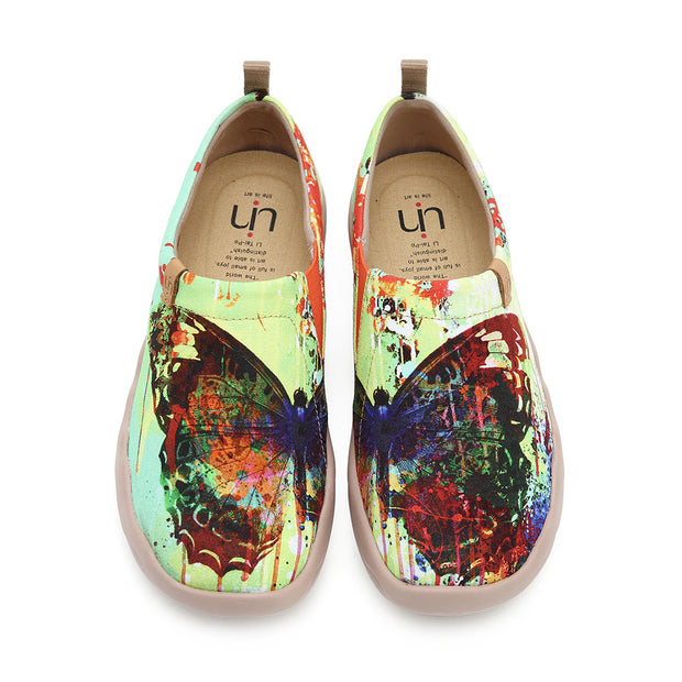 MOTTLED BUTTERFLY Unique Artistic Women Flats