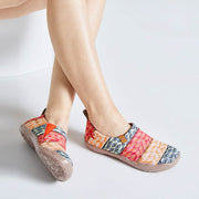 -Bodhi Leaf- Multicolored Women Canvas Slip-on Shoes