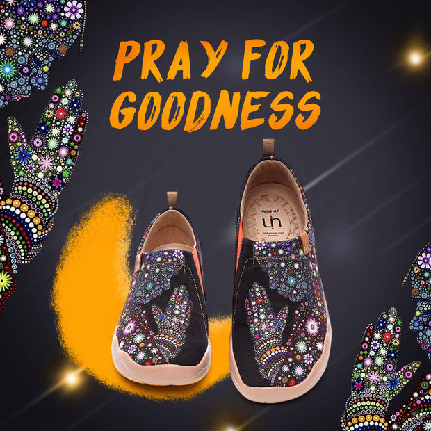 PRAY FOR GOODNESS Canvas Loafers for Women