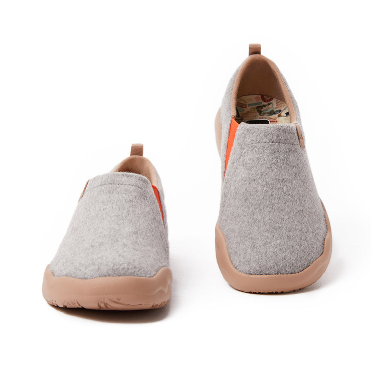 Toledo II Light Grey Wool Men