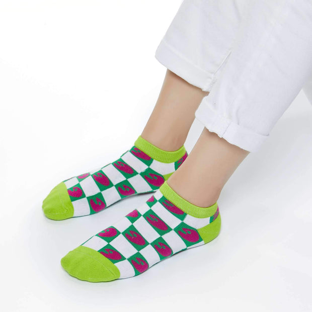 UIN Footwear Accesory Checkerboard Green Canvas loafers