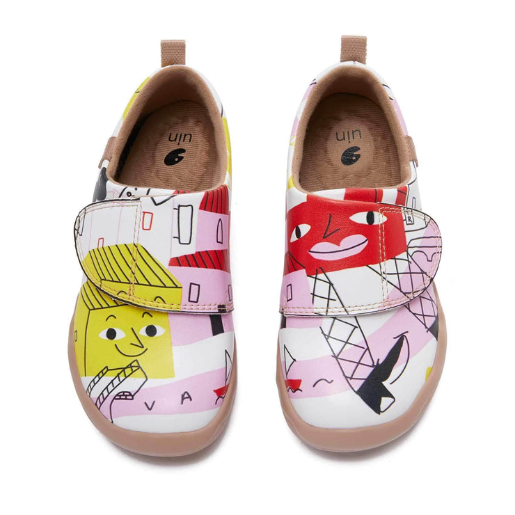 UIN Footwear Kid Building My Dream House Kid Canvas loafers