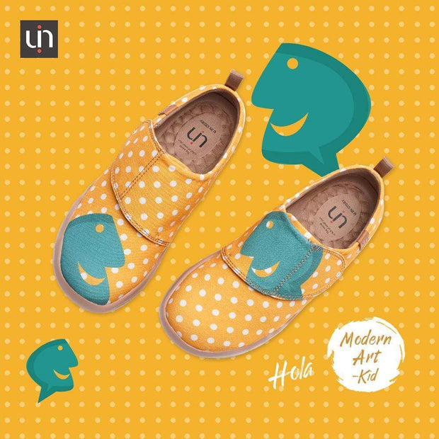 UIN Footwear Kid -Hola- Cute Dot Kids Canvas Shoes Canvas loafers