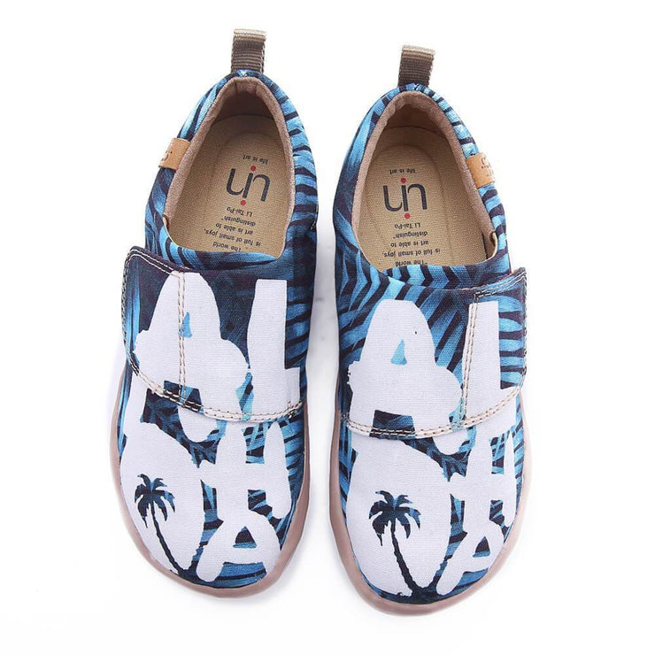 UIN Footwear Kid Love Bravely Canvas loafers