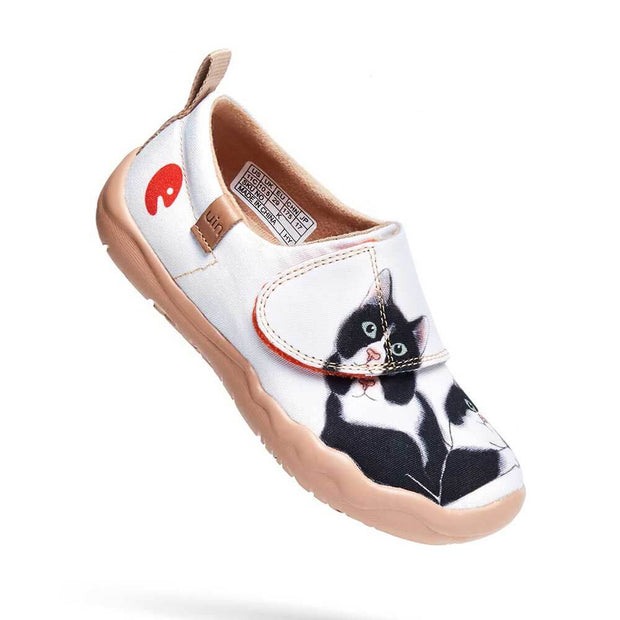 UIN Footwear Kid Milky Kitty Kid Canvas loafers