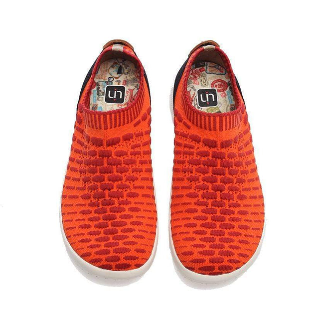 UIN Footwear Kid Sicily Orange Canvas loafers