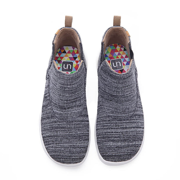 UIN Footwear Kid Tengwu Grey Kid Canvas loafers