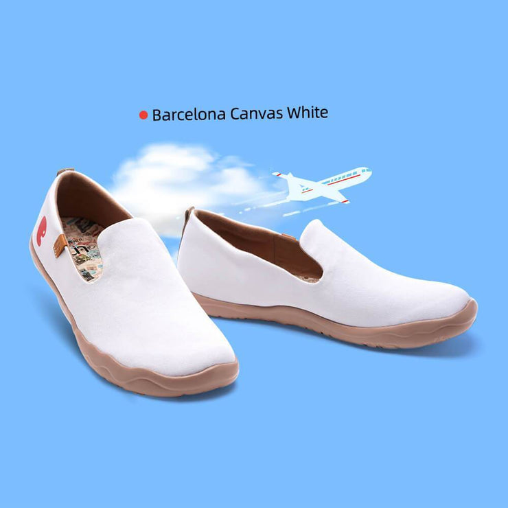 UIN Footwear Men Barcelona Canvas White Canvas loafers