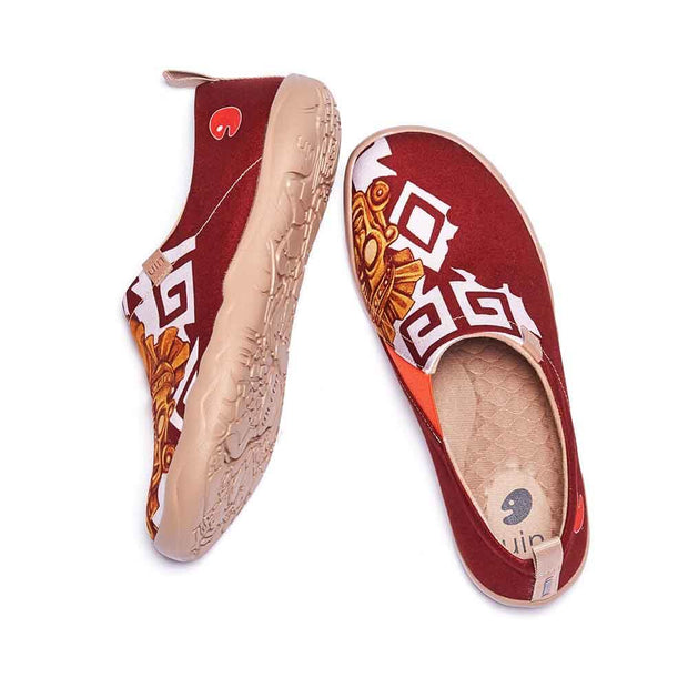 UIN Footwear Men Mayan Totem Canvas loafers