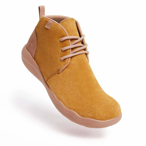 UIN Footwear Men (Pre-sale) Bilbao Khaki Cow Suede Lace-up Boots Men Canvas loafers