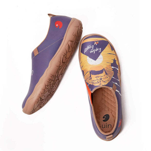 UIN Footwear Men (Pre-sale) Great Sphinx of Giza Canvas loafers