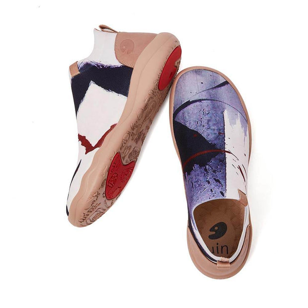 UIN Footwear Men (Pre-sale) Ink Marks Canvas loafers