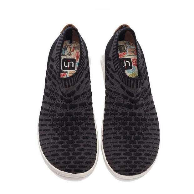 UIN Footwear Men Sicily Black Canvas loafers