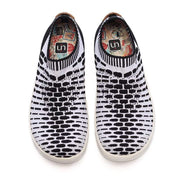 UIN Footwear Men Sicily Black & White Canvas loafers