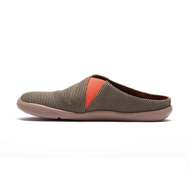 UIN Footwear Men Zaanes Brown Slipper Canvas loafers