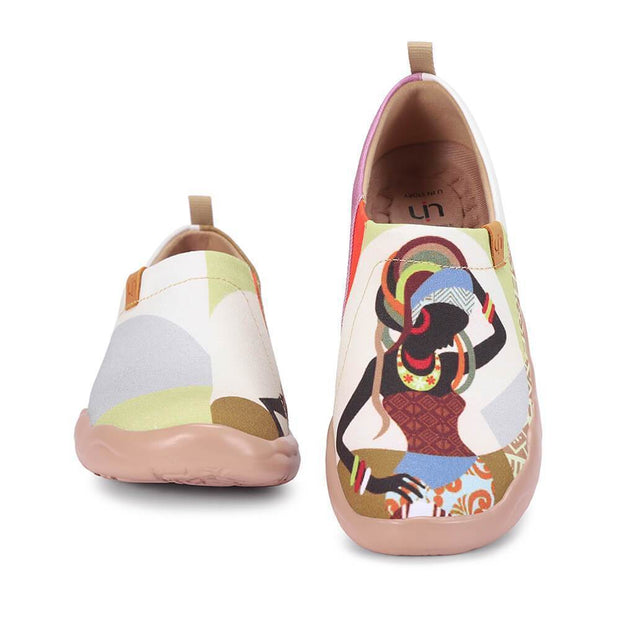 UIN Footwear Women AFRICAN BEAUTY Women Slip-on Shoes Canvas loafers