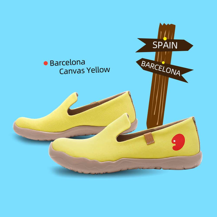 UIN Footwear Women Barcelona Canvas Yellow Canvas loafers