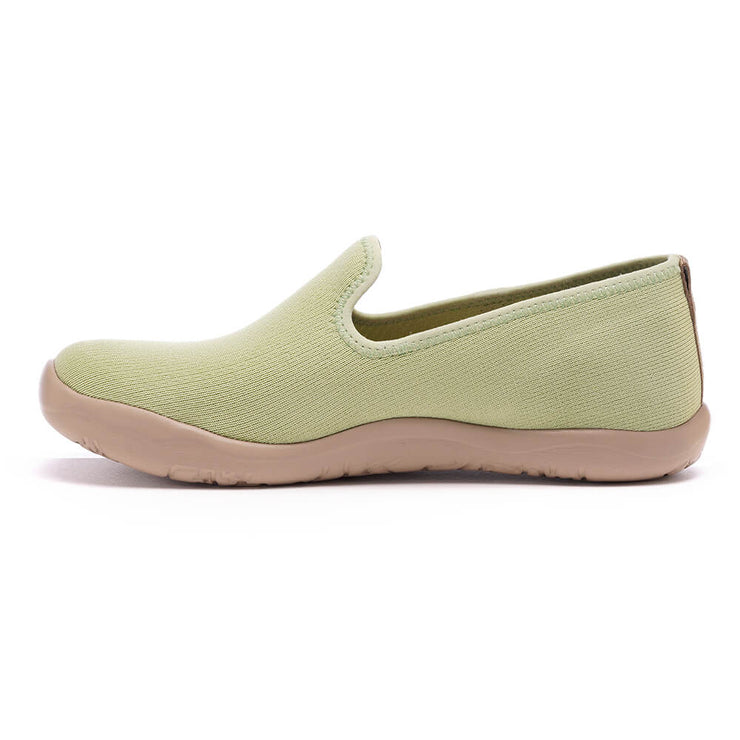 UIN Footwear Women Barcelona Knitted Light Green Canvas loafers