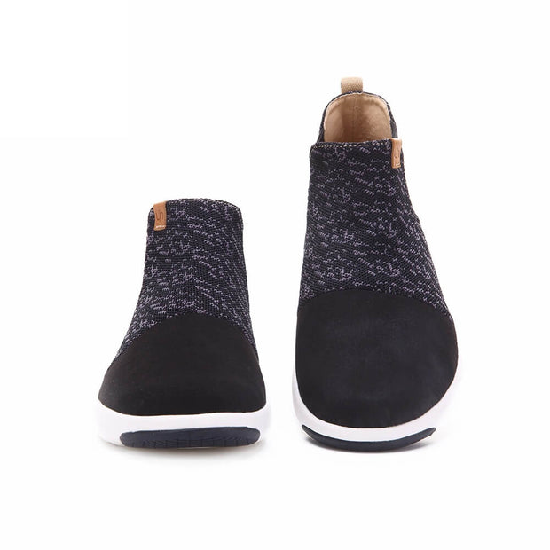 UIN Footwear Women Dr Ken Black Canvas loafers