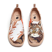 UIN Footwear Women Fluffy Kitty Canvas loafers