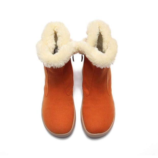UIN Footwear Women Hakkar Orange Boots Canvas loafers
