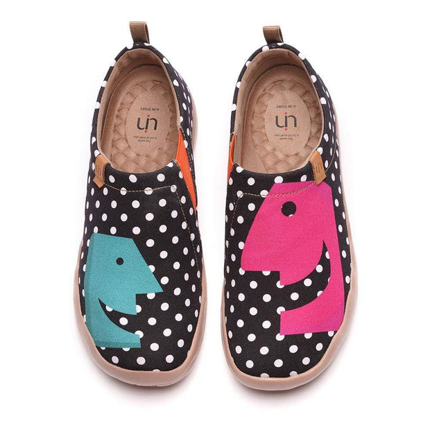 UIN Footwear Women -Hola- Classic Dot Female Canvas Shoes Canvas loafers