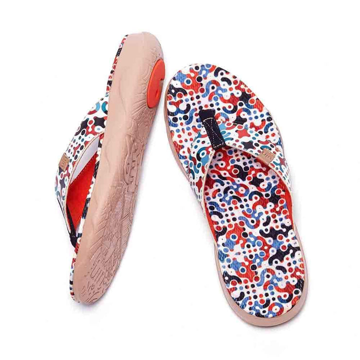 UIN Footwear Women Jumble Women Majorca Flip Flops Canvas loafers