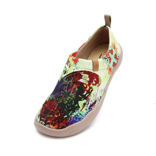 UIN Footwear Women Mottled Butterfly Canvas loafers